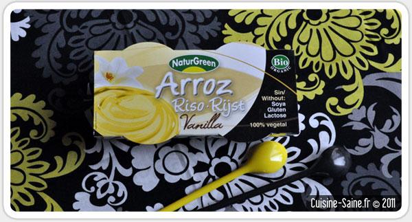 Blog cuisine bio test : la « crème » vanille de naturgreen (Arroz Vanilla)