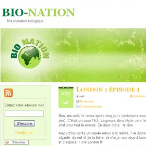 blog cuisine et écologie Bio nation