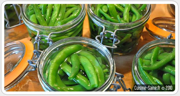 Recette bocaux : bocaux de haricot vert