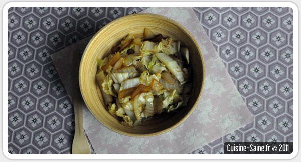 Recette bio rapide chou chinois blog cuisine bio - Cuisiner le chou chinois cuit ...