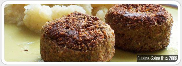 Recette bio : Croquettes de lentilles bio au quinoa