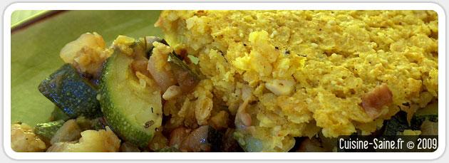 Recette bio sans gluten : crumble de courgettes