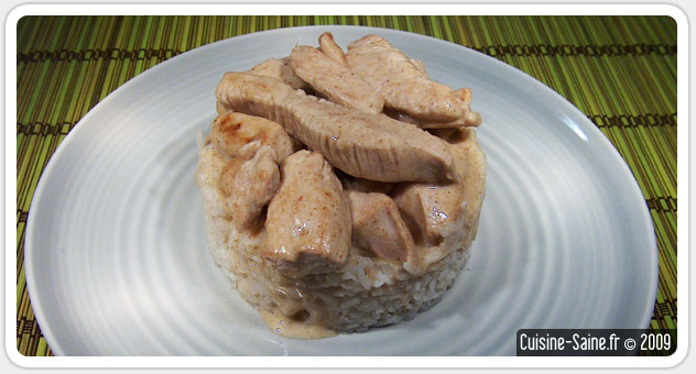 Recette sans gluten : dinde au massalé