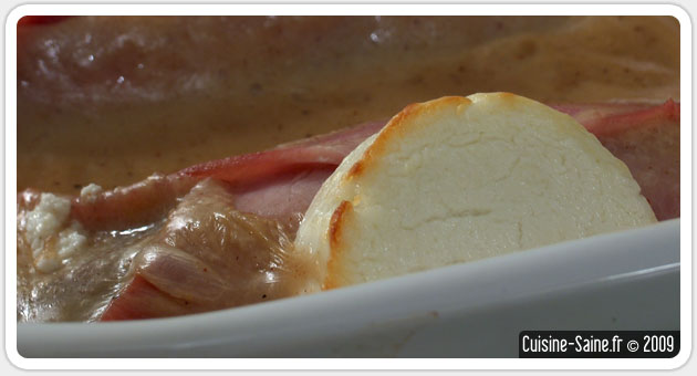 Endive au jambon sans lait de vache