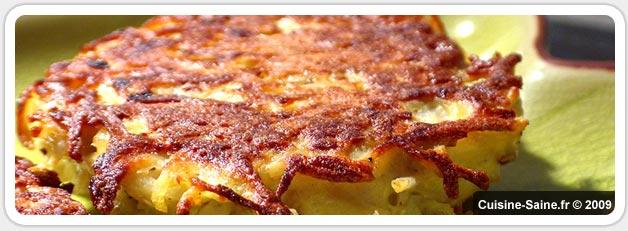 Recette bio et végétarienne : galettes de topinambours et pommes de terre
