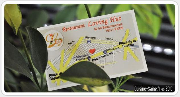 Restaurant végétarien : le Loving hut