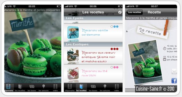 Blog Cuisine Bio Test Une Appli Iphone Pour Réussir Ses Macarons - Appli cuisine