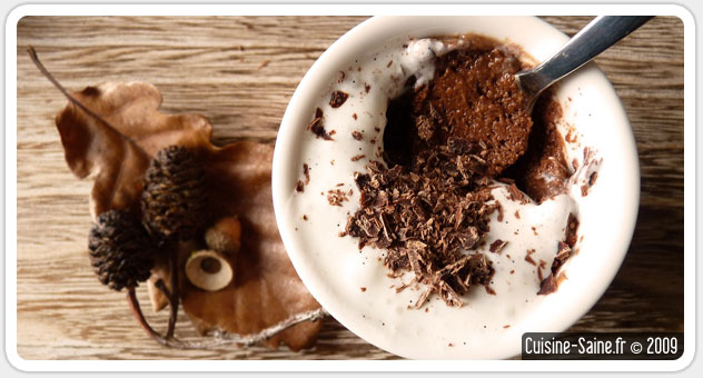 recette de mousse au chocolat sans jaune d'oeuf, ni beurre