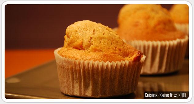 Recette sans gluten : muffins pomme/cannelle