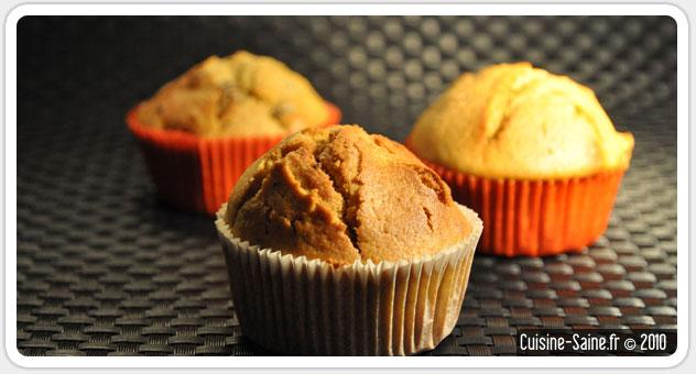 Recette sans gluten : muffin potiron, raisin sec et épices