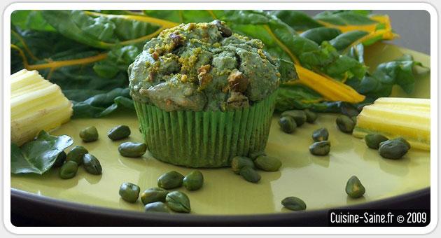 Recette sans gluten : muffins salés noisette/blette/spiruline