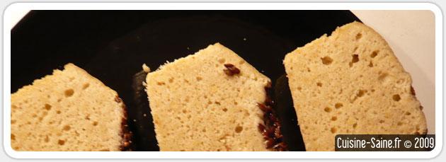 Pain sans gluten aux graines de lin