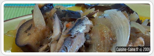 Poelée d'aubergine et de poivron aux anchois
