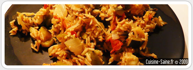 Recette de ratatouille au riz