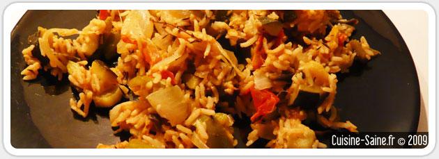 Ratatouille au riz et au thym