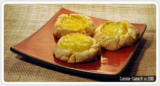 Recette sans gluten : biscuits amande / citron sans gluten