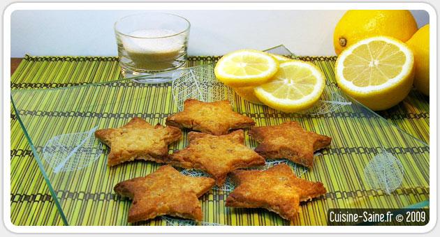 Recette sans gluten : sablés au citron