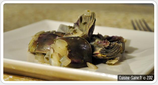 Recette bio : sauté d'artichaut à l'ail et au persil