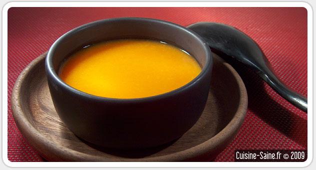 Recette minceur bio : soupe de potiron carotte au gingembre