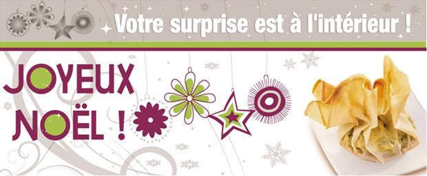 Concours cuisine : Joyeux Noël ! Votre surprise est à l'intérieur !