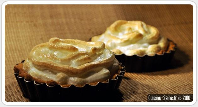 Recette sans gluten ni lait : tarte au citron meringuée
