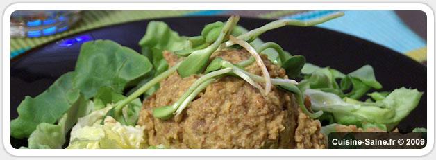 Recette bio et végétarienne : tartinade de lentilles au curcuma