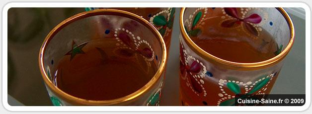 Recette bio minceur : Verrine en gelée de thé à la menthe