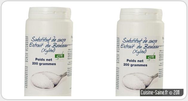 Le xylitol ou sucre de bouleau