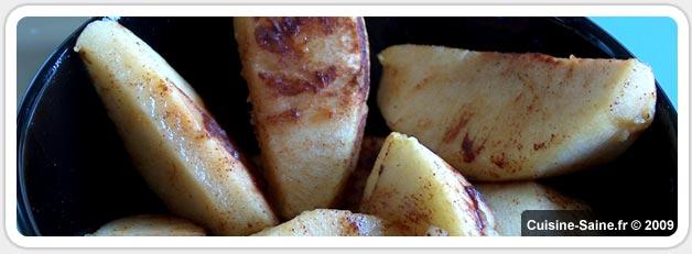 Recette ultra rapide de pommes au four à la cannelle