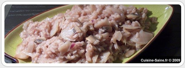 Recette bio et végétarienne : risotto de topinambours et champignons