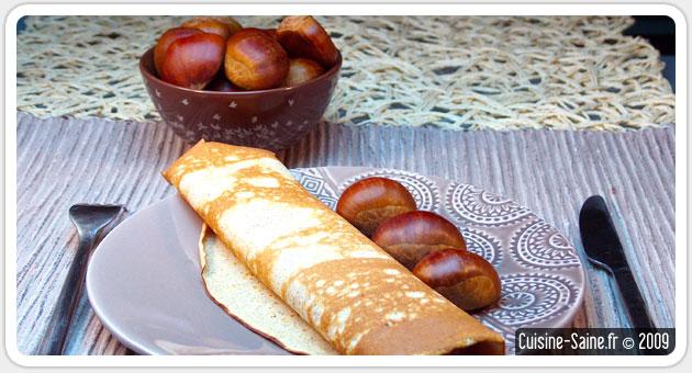 Recette de crêpes sans gluten à la farine de châtaigne saveur vanille sucrée