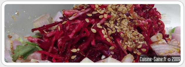 Recette salade de racines : betteraves crues et navets crus