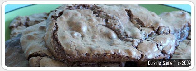 Cookies tout chocolat et noix de cajou