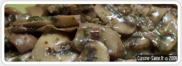 Recette minceur : fricassé de champignons au tartare d'algues