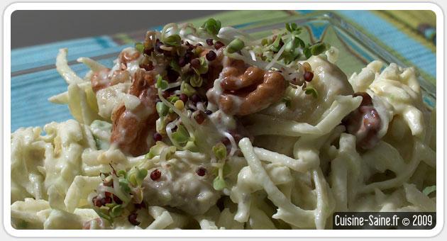 Recette bio : salade de céleri rave à l'avocat et noix