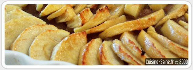 Recette bio sans gluten de tarte aux pommes saveur noisette