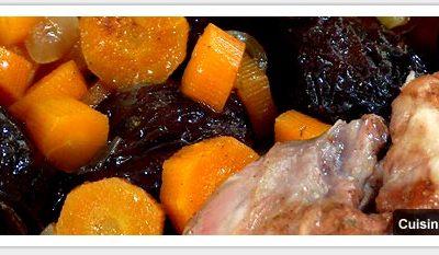 Epaule d'agneau aux carottes et pruneaux sucré/salé à l'omnicuiseur