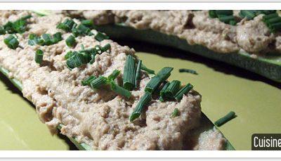 Recette bio de saison : courgettes farcies aux sardines