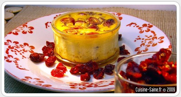 Crème renversée à la cerise sans gluten, sans lactose
