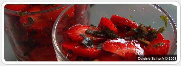 Verrine de fraises au limoncello et menthe