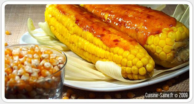 Recette bio : épis de maïs à la crème de soja