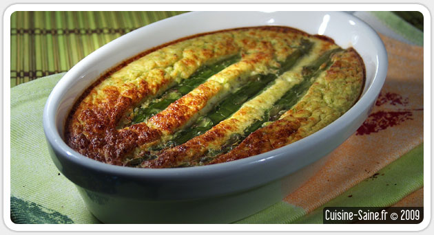 recette bio flan d 39 asperges vertes blog cuisine saine. Black Bedroom Furniture Sets. Home Design Ideas