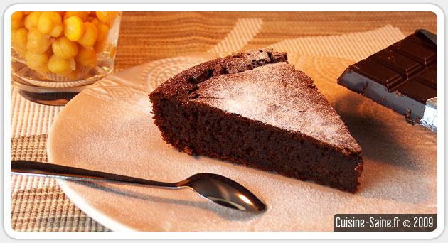 Recette sans gluten : gâteau au chocolat sans beurre sans farine
