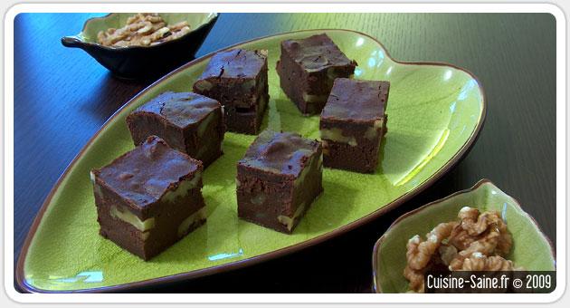 Recette sans gluten : brownie au sirop d'érable
