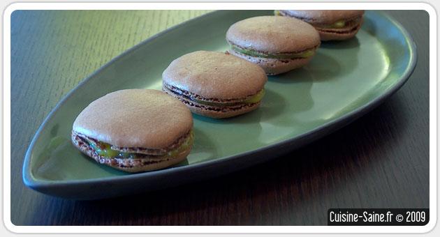 Recette sans gluten : macarons chocolat à la crème de mirabelle