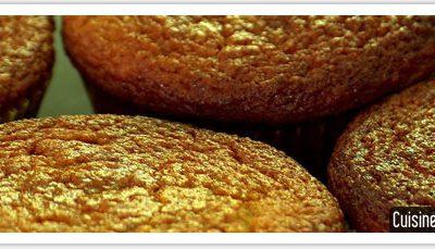 Recette sans gluten: muffins pois chiche et fleur d'oranger