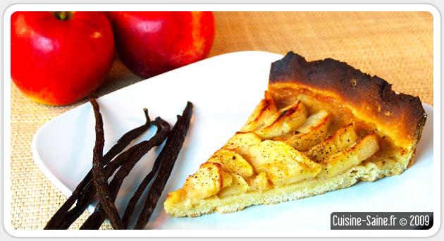 Dessert bio sans gluten : tarte aux pommes à la vanille