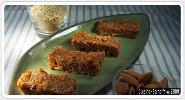 Barres de céréales au quinoa sans gluten sans lactose