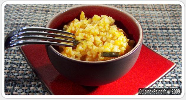 Recette bio facile : risotto de potimarron aux cébettes