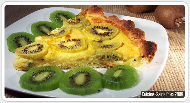 Recette de tarte sans gluten aux kiwis